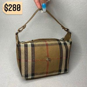 ✨✨✨✨SOLD✨✨✨✨Burberry Mini Check Gold Handbag RARE